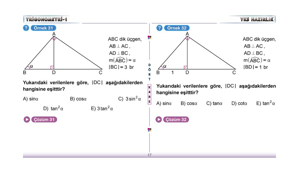 Dört Kare Trigonometri konu anlatımı